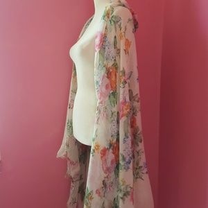 Accessories - Large Sheer Floral Wrap